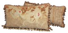 Pair Of French Aubusson Pillows