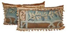 Pair Of 18th Century Flemish Tapestry Pillows