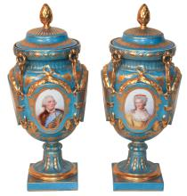 Pair Of 19th Century French Sevres Portrait