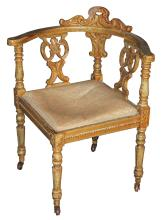 Early Continental Painted Corner Chair