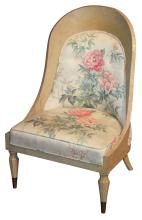 Unusual Antique Swedish Painted Chair