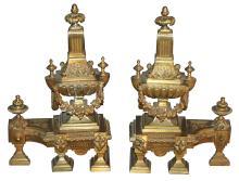 Pair Of 19th-century French Bronze Chenet