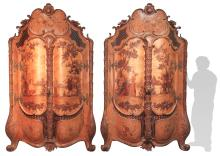 Pair Of Early Continental Inlaid Doors