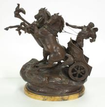 Antique French Spelter Sculpture