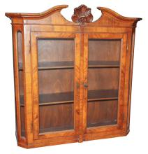Early 19th C. German Hanging Vitrine/bookcase