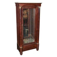19th C. French Empire  Vitrine Cabinet With