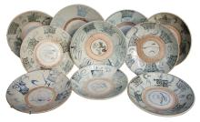 Set Of 10 18th-19th C. Chinese Export Bowls,