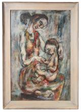 Waldman.   Texas Modernism.  Mother With Child.