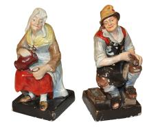 Pair Of Antique German Porcelain Figures
