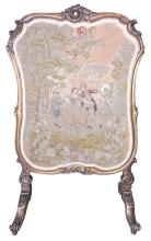 19th C. French Giltwood & Needlepoint
