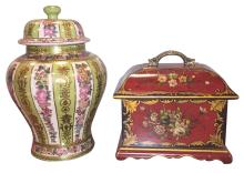 Group Of 2 Oriental Decorative Pieces