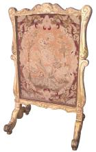 Fine 19th C. French Gilt-wood Needlepoint