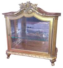 Antique French Giltwood Vitrine Cabinet