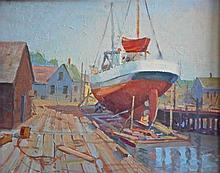 Rockport School Oil Painting,