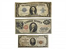 Three U.S. Currency Notes