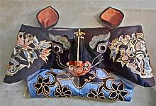 Two Antique Chinese Ceremonial Hats