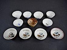 Collection of Japanese WWII Sake Cups