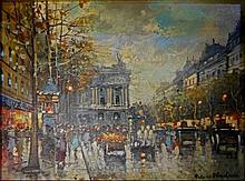 BLANCHARD, Antoine (French, 1910-1988)  City Scene