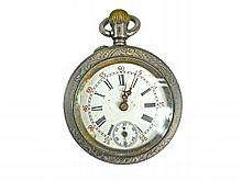 Silver Cased Swiss Pocket Watch