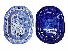 Two 19th C. English Porcelain Platters