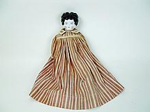 China Head Low Brow Doll, 19th C.