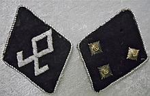 WWII German SS Prinz Eugene Officer Collar Tabs