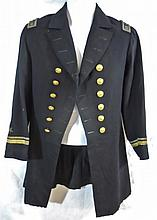 Civil War Era U.S. Navy Officer Uniform, Named