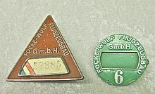 WWII German Airplane Factory Badges