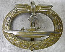 WWII German Kriegsmarine U-Boat War Badge