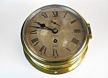 English 8-Day Ship's Clock, Henry Browne & Son
