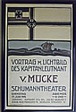 1919 German Theater Poster, Framed