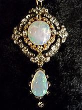 Antique Fine Australian Opal Brooch/Pendant