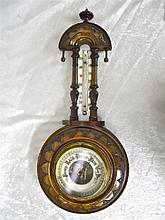 Atco, German Banjo Shaped Wall Barometer