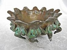 20th C. Bronze Bowl, Signed