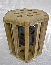 Antique Japanese Mingei Gimbal Brazier Bed Warmer