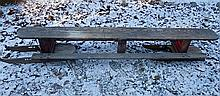 Antique Wood Toboggan