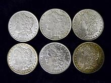 (6) Morgan Silver Dollars