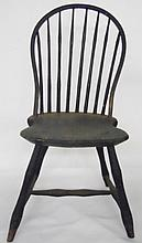 Early 19th C. Primitive Windsor Side Chair, Signed