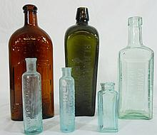 Collection of 19th C. Glass Bottles