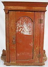 Antique Primitive Painted Cupboard