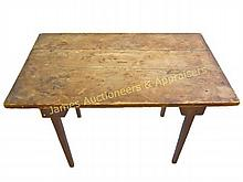 19th C. Primitive Plank Top Tavern Table
