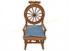 19th C. Spinning Wheel Rocking Chair