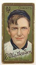 T205 Christy Mathewson Sovereign Tobacco card