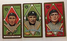 3 T205 Detroit Tigers Tobacco cards, David Jones, Edger Willett and Charles O'Leary