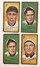 4 T205 Philadelphia Nationals including 2 Charles Dooin, John Titus and John Lobert