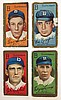 4 T205 Brooklyn Nationals Tobacco cards