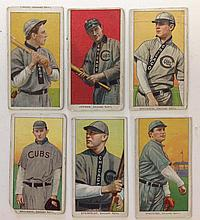 6 T206 Chicago Nationals Tobacco cards