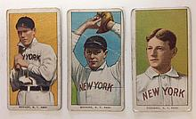 3 T206 New York Tobacco cards