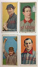4 T206 St. Louis Tobacco cards