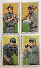 4 T206 Cleveland Tobacco cards